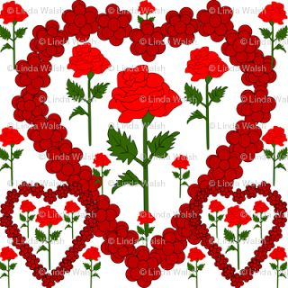Gray Is Beautiful: Valentine's Day Custom Fabric Designs Collection From Celia