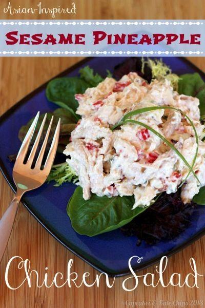Asian-Inspired Sesame Pineapple Chicken Salad | Recipe ...