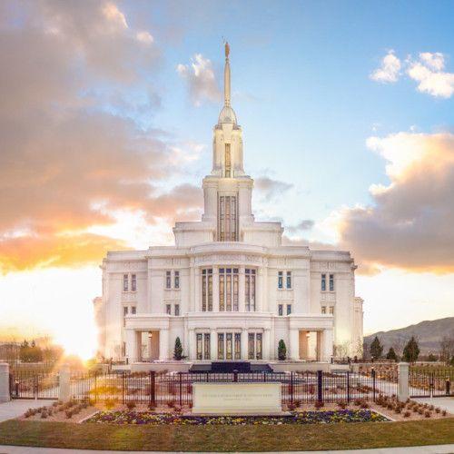 Payson Temple Sunset West - LDS Temple Pictures