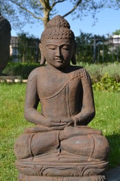 Boeddha Beeld Dhyana Groensteen 70 cm