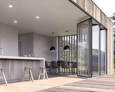 Faltwand Aus Glas Für Großflächige Öffnungen. Falttüren Und Faltanlagen    Aluminium Und Holz. Planung Awesome Ideas