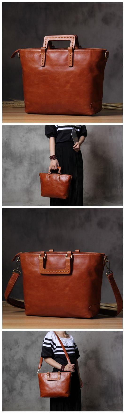 Handcrafted Leather Messenger Handbag Leather Shoulder Bag Laptop Bag Satchel 14122