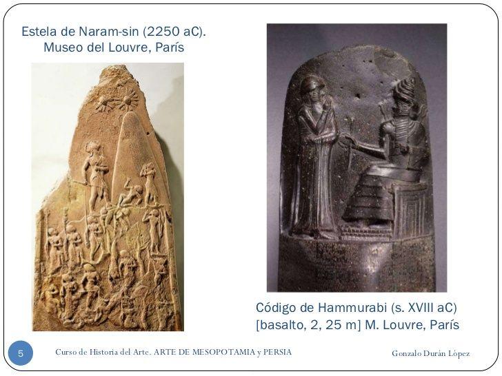 Estela de Naram-sin (2250 aC). Museo del Louvre, París Gonzalo Durán López Curso de Historia del Arte. ARTE DE MESOPOTAMIA...