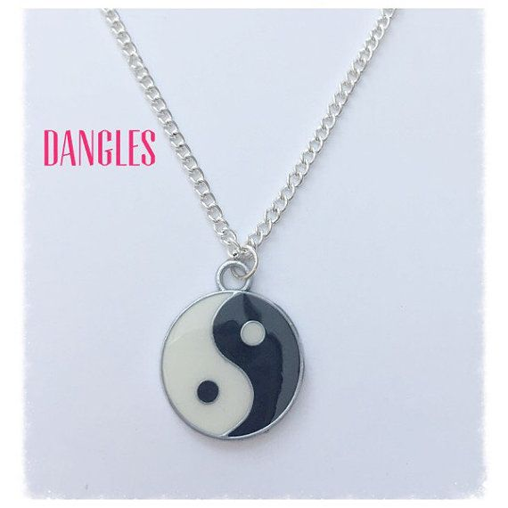 Yin Yang Necklace  Ref DB6 by DanglesBoutique on Etsy