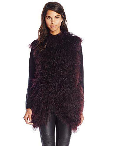 BCBGMAXAZRIA Women's Jewel Fur Vest