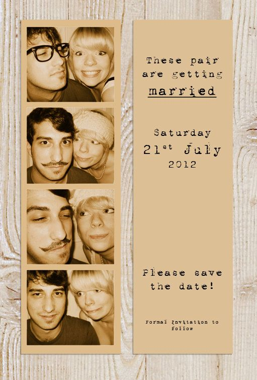 Do you want to give your future guests a cool Save the Date that wont clutter their drawers or cupboards? Instead, send them these photostrips
