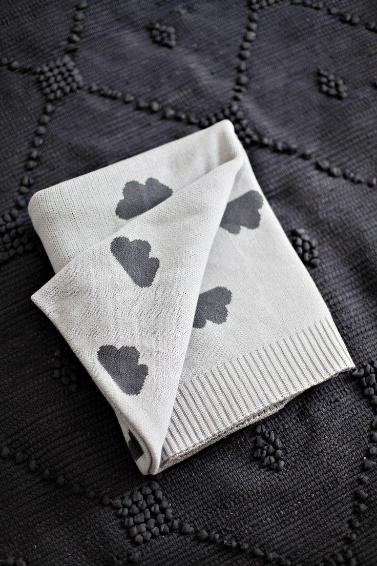 Jamie Kay Cotton Cloud Blanket - Dark Grey