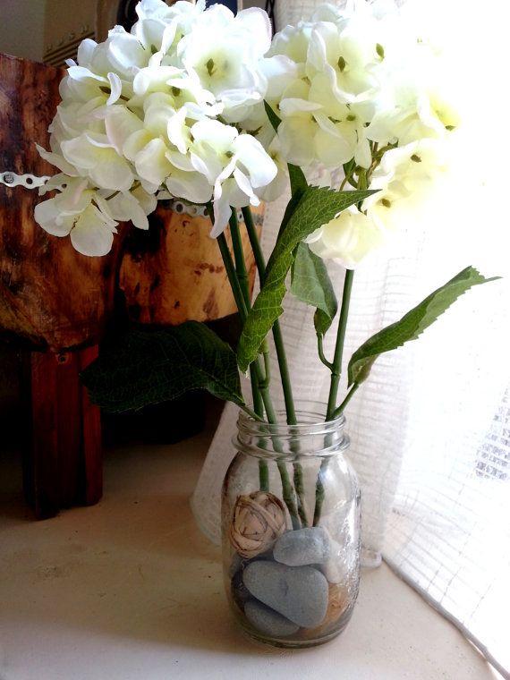 Upcycled Glass/Vase  White Decor  White Wedding by Saradonnapurple, €18.67