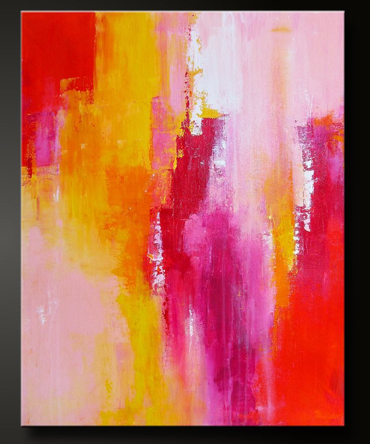 Sorbet 2 28 x 22 Abstract Acrylic Painting by CharlensAbstracts