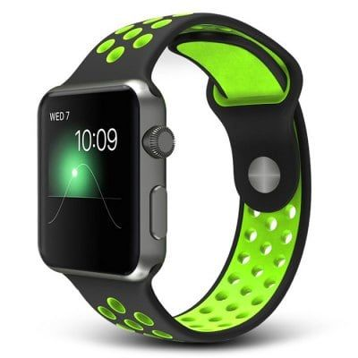 Resin Soft Watchband    -  GREEN 205717705  for Apple Watch 42mm Replacement Wristband