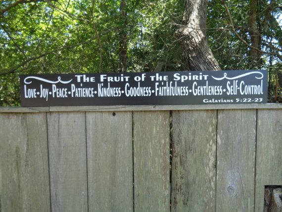 Galatians Sign Fruit of the Spirit Sign Love Joy by KPATTONDESIGNS