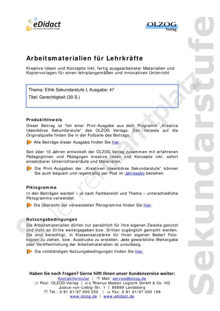 17 best Lebenskunde Unterrichtsmaterialien images on Pinterest ...