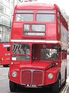 Reizen met de bus  in Londen