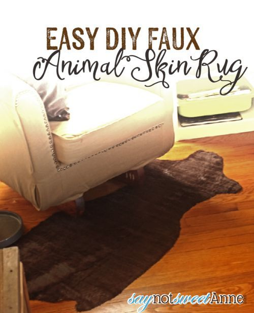 DIY Faux Animal Skin Rug