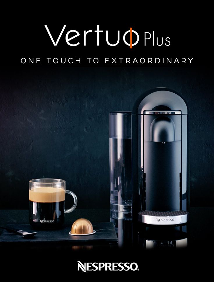 Introducing Nespresso VertuoPlus. Crafting an extraordinary cup of coffee will never be the same. Discover Nespresso VertuoPlus.