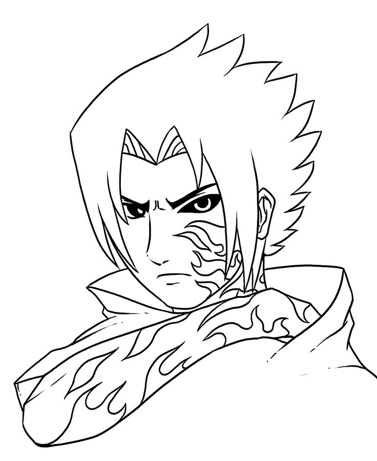 naruto anime coloring pages for kids printable free