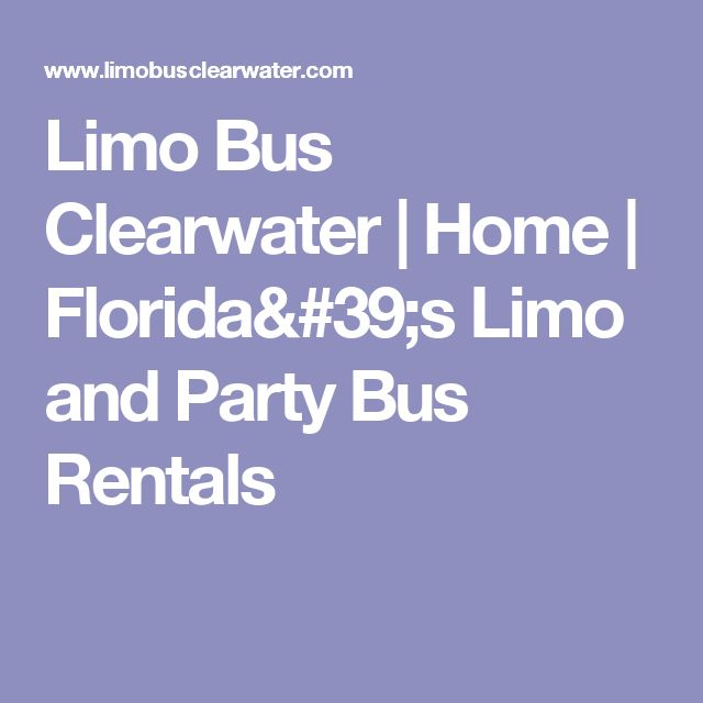 Limo Bus Clearwater | Home | Florida's Limo and Party Bus Rentals