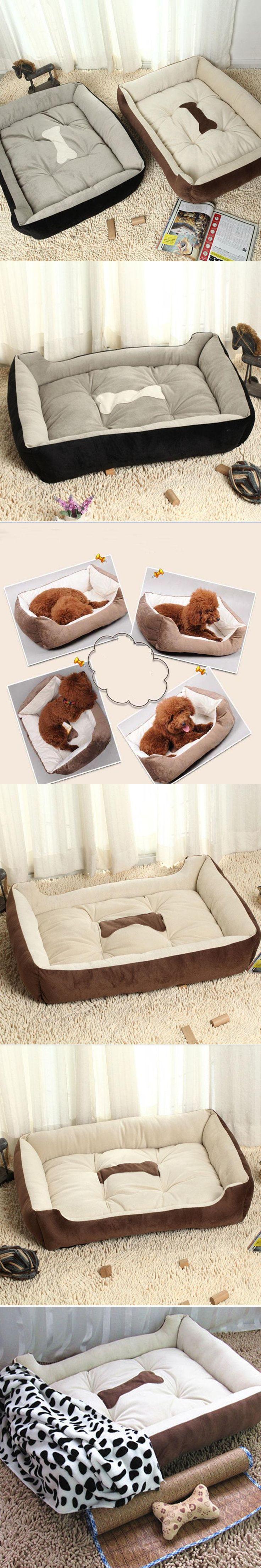 2016 New PLUS Size Big Dog Bed Kennel Mat Soft Fleece Pet Dog Puppy Warm Bed House Plush Cozy Nest Dog House Pad Warm Pet House