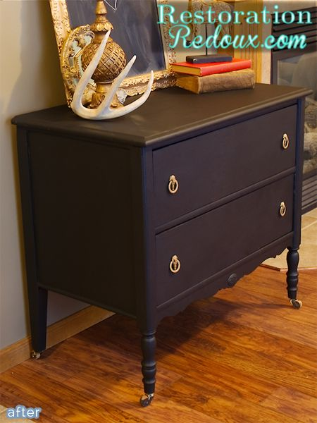 shanna black dresser makeover after-better after blog