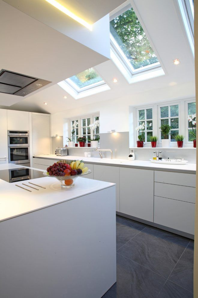 united kingdom velux skylight with stainless steel wall mount range hoods kitchen contemporary and gaggenau induction hob