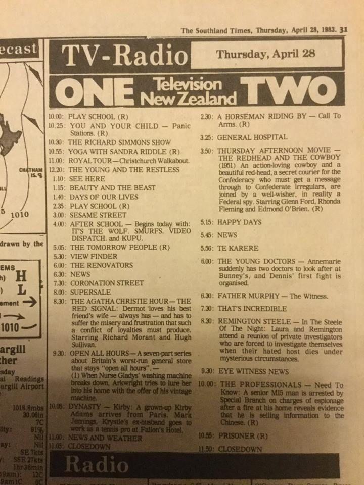 Tv Listings From The Listener Nz June 1986 Childhood Memories Memories Childhood