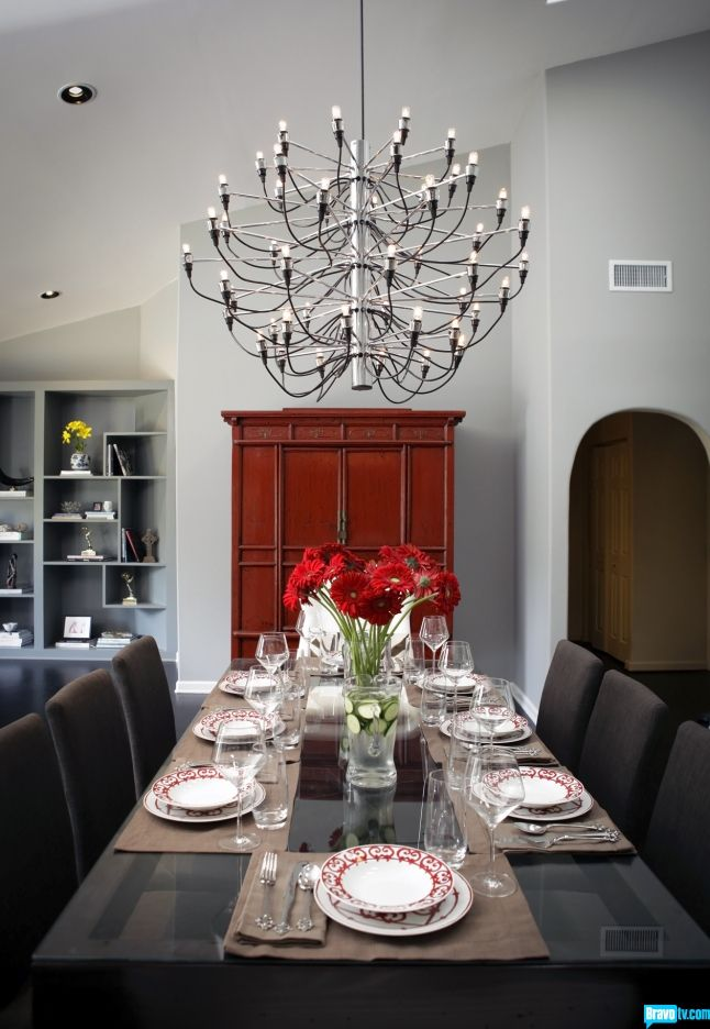 Gino Sarfatti's Model 2097 Chandelier for Flos as seen on Interior Therapy with Jeff Lewis on @Bravo TVDecor, Amazing Chandeliers, Dining Rooms, Beautiful House, Jeff Lewis, House Design, Gino Sarfatti, Sarfatti Chandeliers, Gorgeous Chandeliers