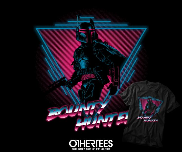 """BOUNTY HUNTER"" by DDJVIGO T-shirts, Tank Tops, V-necks, Hoodies and Sweatshirts are on sale until October 3rd at www.OtherTees.com #tshirt #othertees #clothes #popculture #darkside #starwars #geek #bobafett"
