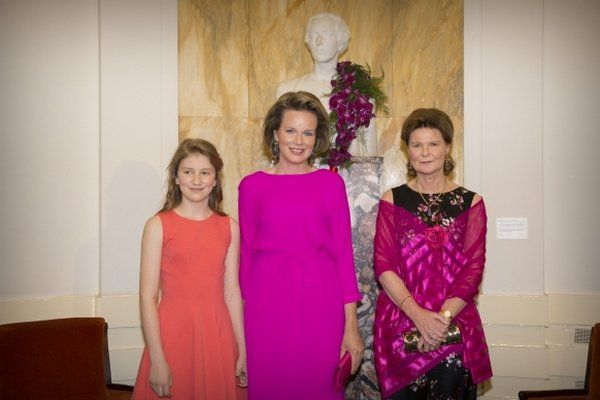 Queen Mathilde and Princess Elisabeth at finals of the Piano Competition
