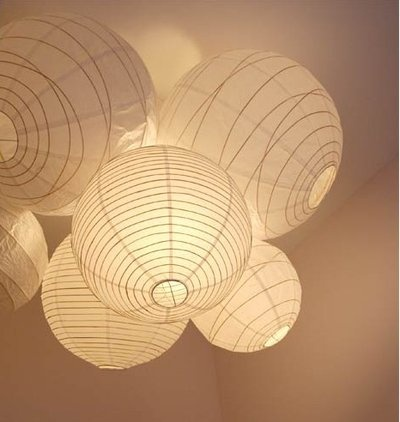 Grouping of paper lanterns perhaps?