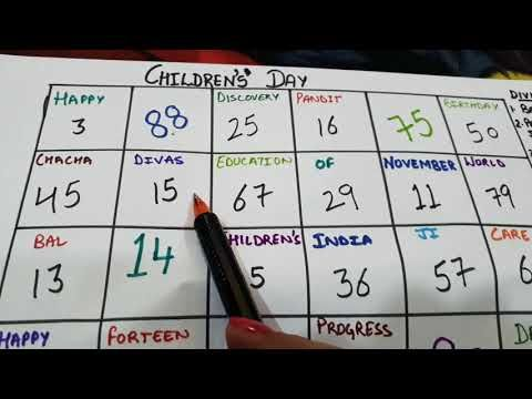 Tambola game for children's day(Kitty party game ) - YouTube