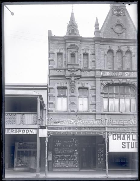 CHARLESTON STUDIOS was a late 19th c / early 20th c photography business owned & run by Harry Charleston, here, and previously at a location on the cnr Hunter & Newcomen Sts. In 1931 the building was renamed Washington House after the pharmacy businessman Washington Handley Soul, & later it was part of Scott's, & then David Jones. Currently unoccupied, the building will in the next year be redeveloped into apartments.