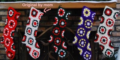 Granny square vintage stocking pattern. Would like to make a proper heel instead of a square.