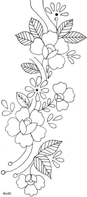 Las 25 mejores ideas sobre patrones de bordado en for Cenefas para dibujar