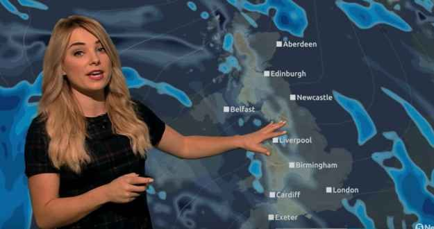 During her Wednesday night broadcast, Channel 5 weather reporter Sian Welby pulled off something beautiful.