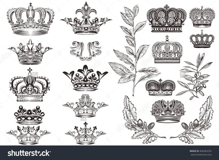 stock-vector-high-detailed-crowns-set-or-collection-in-vintage-heraldic-style-for-design-406383256.jpg (1500×1101)