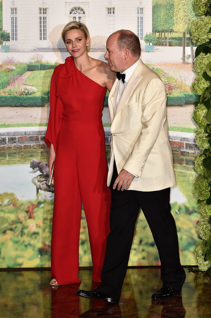 Playsuit for evening wear | The Nontraditional Look Princess Charlene Wore to Grace Kelly's Favorite Ball Was Her Best of 2015