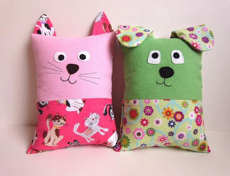 Pattern: Dog and Cat Tooth Fairy Pillows by myfunnybuddy