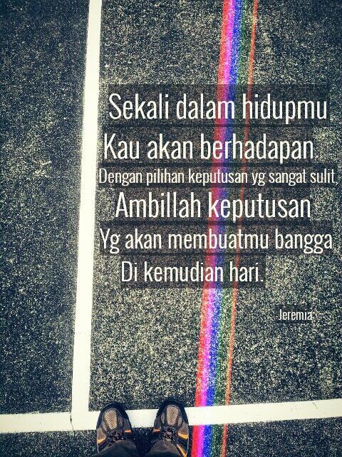 Memilih dengan hati nurani. Jokowi-JK