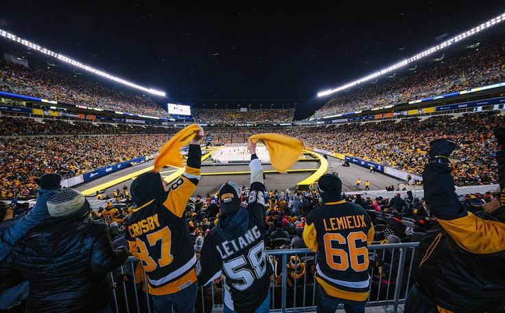 """641 Likes, 3 Comments - Pittsburgh Post-Gazette (@pittsburghpg) on Instagram: """"Penguins fans cheer right before the puck drops for the Stadium Series at Heinz Field between the…"""""""