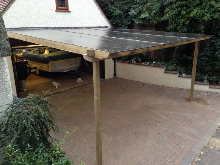 how to make a sloped roof car port