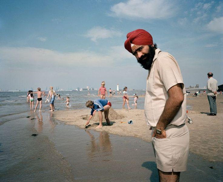 Martin Parr - England. New Brighton. On the beach. 1984.