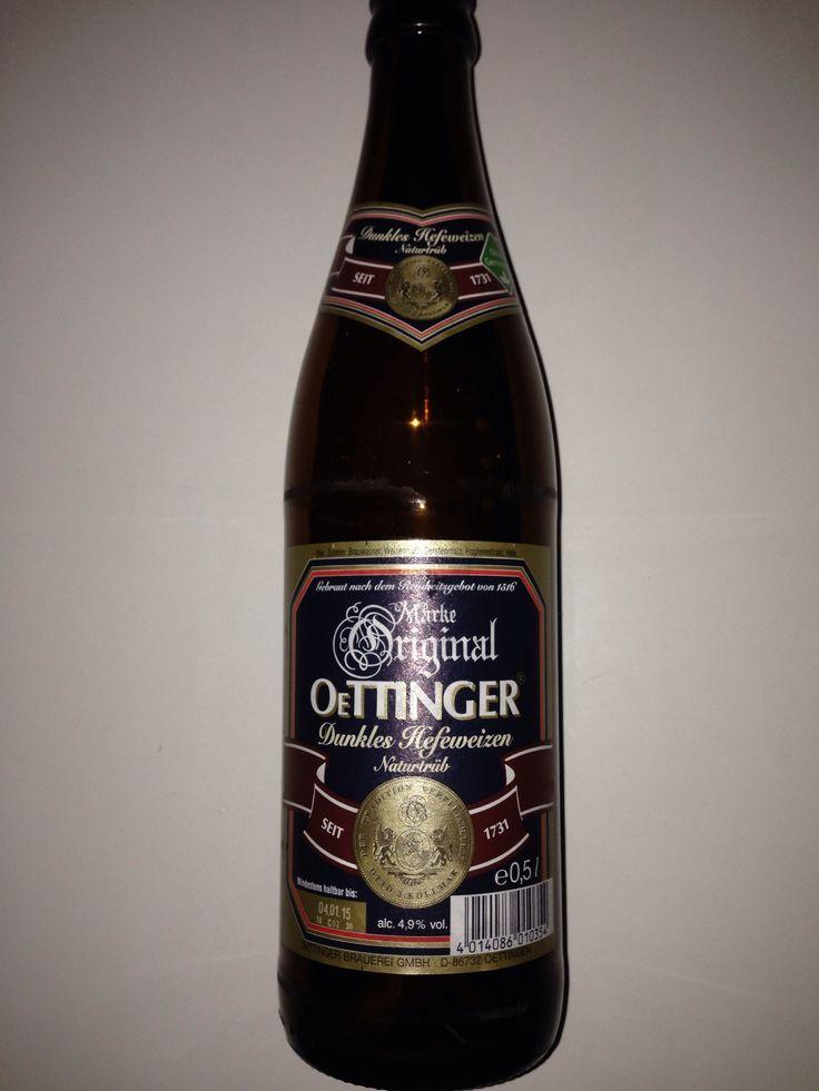 Oettinger Dunkles Hefeweissbier. 0,5 lt, 4,9% Oettinger Brauerei GmbH, Oettingen