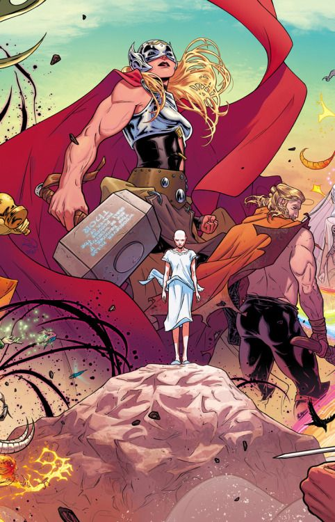 THE MIGHTY THOR #1 Wraparound Gatefold - Russell Dauterman, Color - Matt Wilson