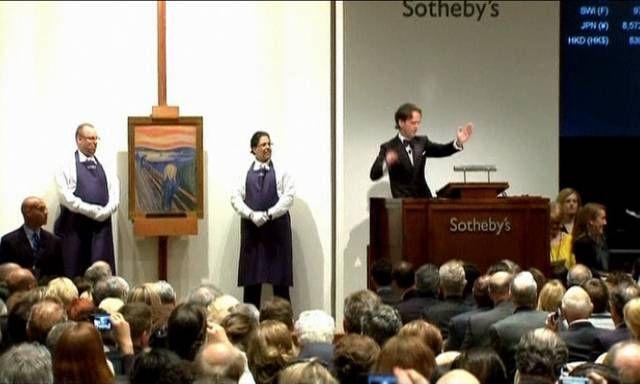 2 de mayo de 2012: El arte mueve millones de dólares: «El Grito» de Munch, obras de Picasso, Miró y Bacon... ¿quién da más?