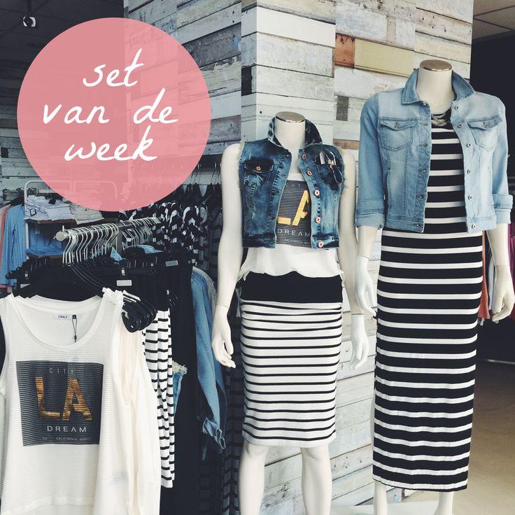 Set van de week! Maxi dresses & denim jackets.