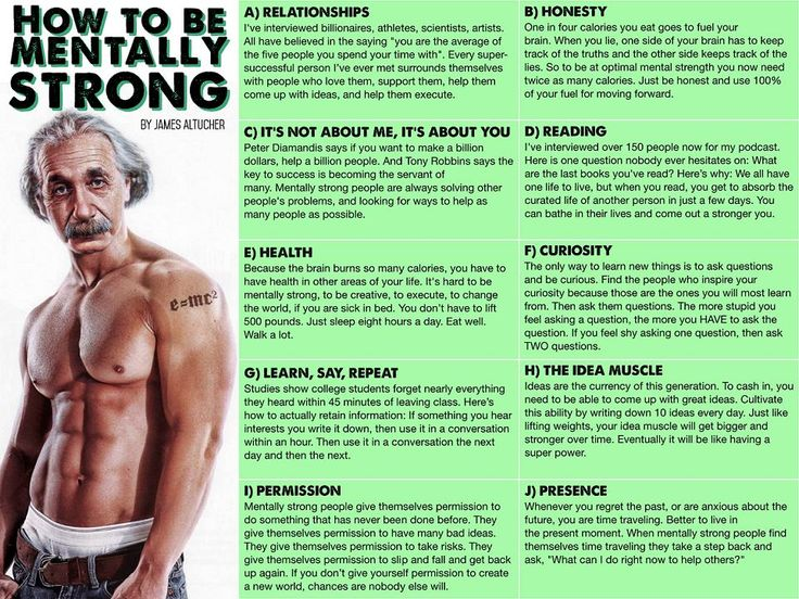 This Infographic Will Finally Teach You How To Be Mentally Strong