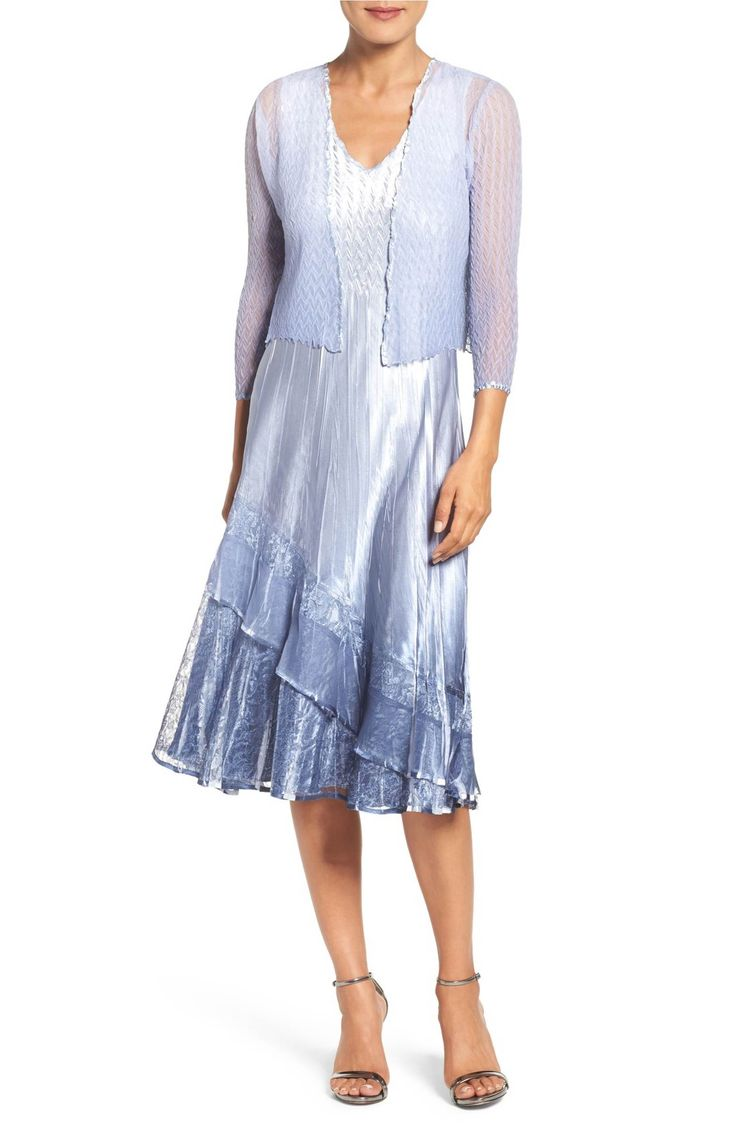 Main Image - Komaro Lace & Charmeuse Dress with Chiffon Jacket