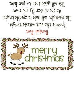 Adorable idea, make reindeer dust to feed reindeer. How easy too!