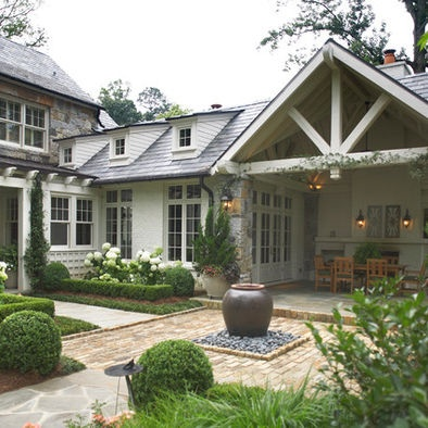 Exterior White Stone Design, Pictures, Remodel, Decor and Ideas - page 7