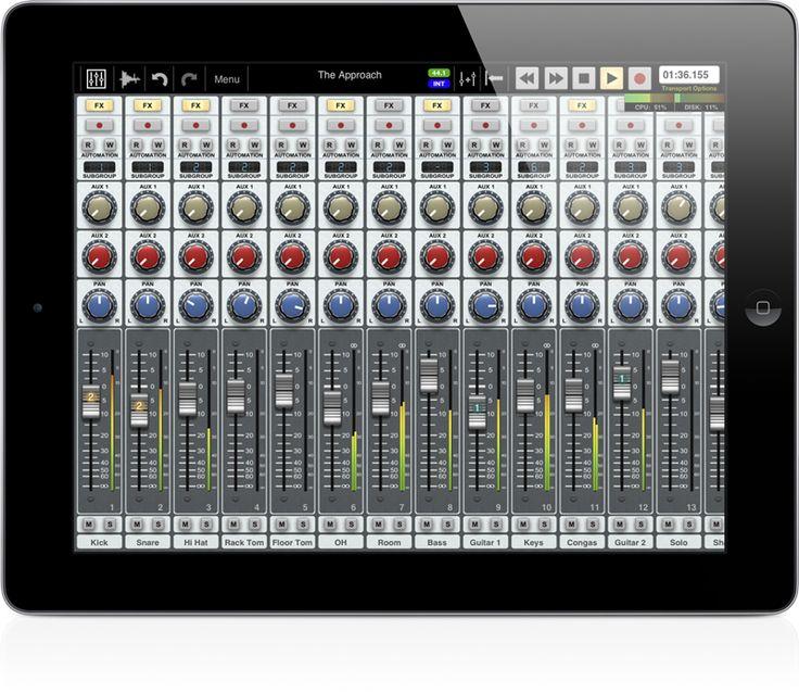 Auria-iPad: 48spors DAW for iPad. Kjekt :-)